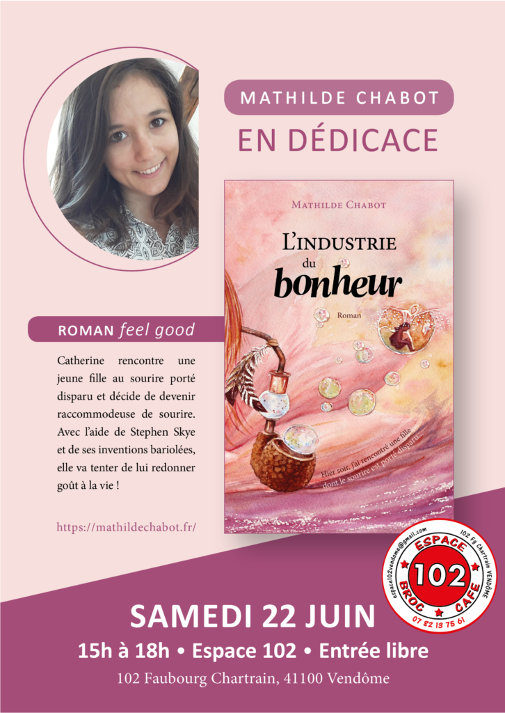 Dédicace Mathilde Chabot vendôme espace 102