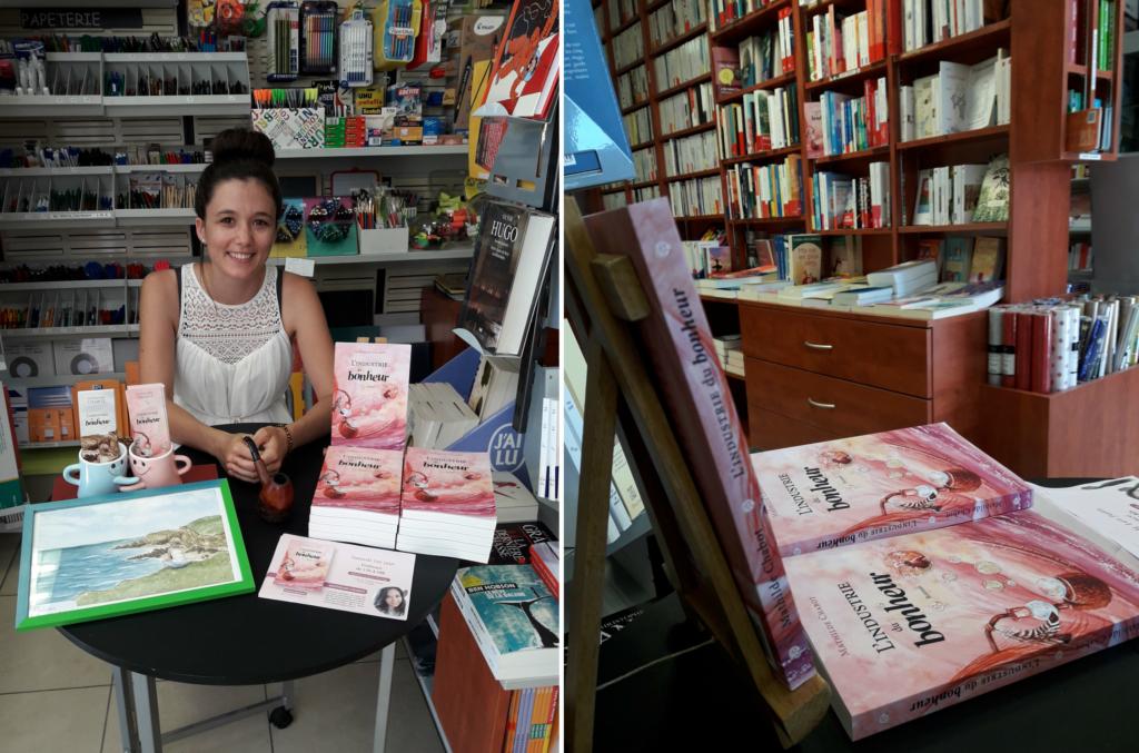 Dédicaces de l'industrie du bonheur en librairie