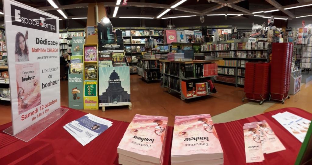Dédicace à la librairie d'Egly