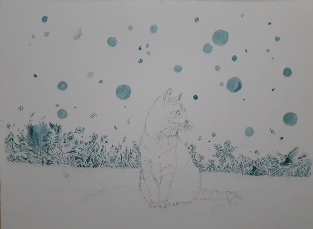 Chat au drawing gum