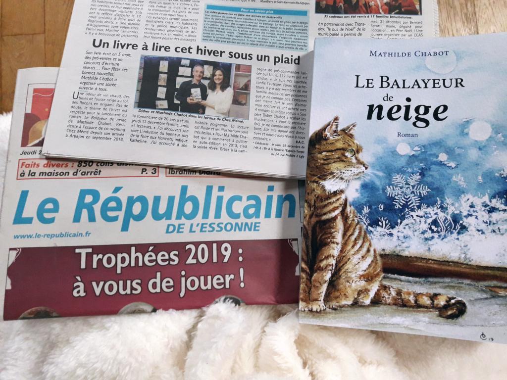 Article paru le 26 décembre dans le Républicain de l'Essonne à propos du Balayeur de neige.