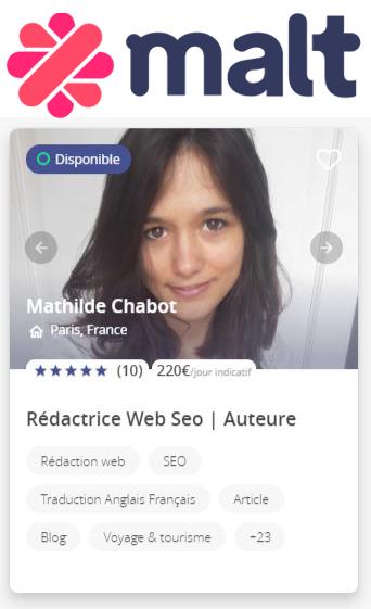 Profil rédactrice Web
